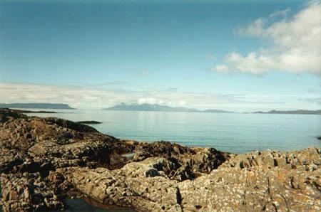 Rhum from the Road to the Isles, north Morar